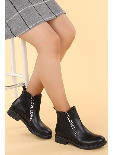 Ayakland Ayakland N901-07 Cilt Termo Taban Kadın Bot Ayakkabı Siyah